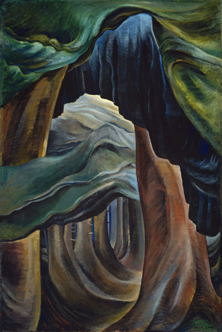 'Forest, British Columbia' - oil diluted with gasoline,1932 by Emily Carr  i dont know why...if im look in this pic..i become sad