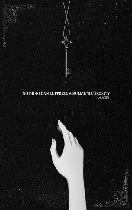 Nada pode suprimir a curiosidade de um ser humano