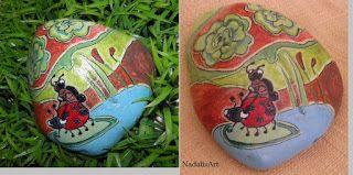 Ναταλία - Χειροποίητες Κατασκευές: Ανοιξιάτικες Ζωγραφιστές πέτρες