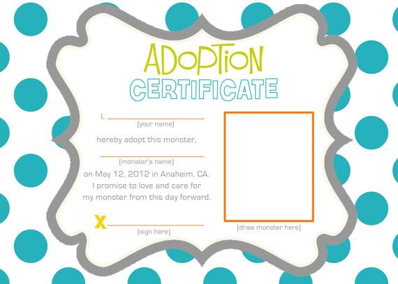 77 best Teddy Bears images on Pinterest Adoption certificate - fresh cat birth certificate free printable