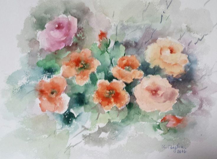 R.Biglia - Armonia fiorita - Acquerello
