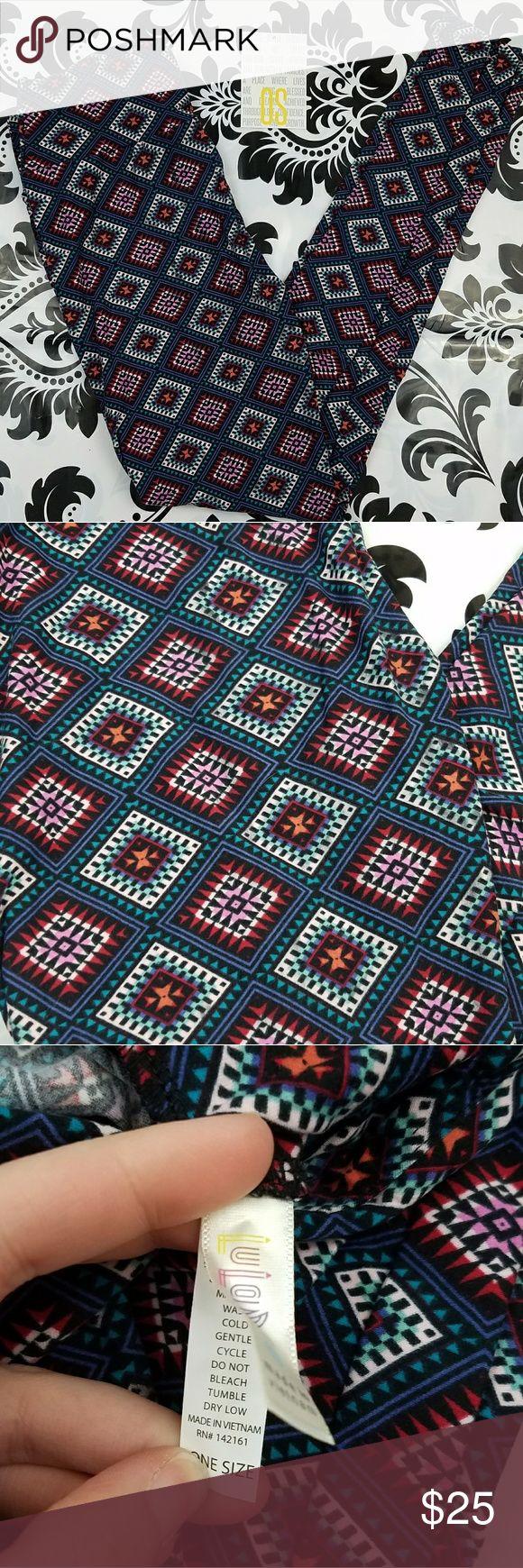 LuLaRoe One size tribal leggings Women's LuLaRoe one size leggings  BRAND NEW  Multicolored  Tribal print LuLaRoe Pants Leggings
