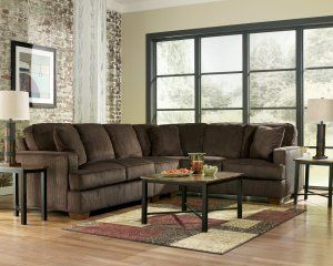 Atmore Chocolate Brown Large Sectional by Ashley Furniture Reviews