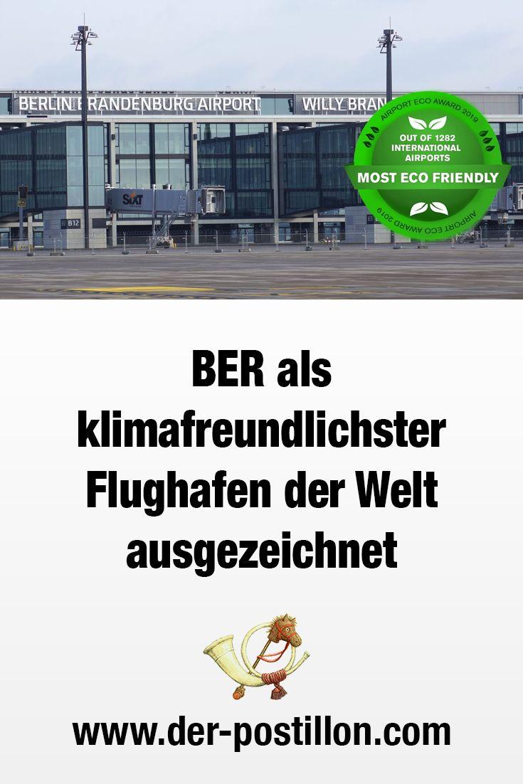 BER als klimafreundlichster Flughafen der Welt ausgezeichnet