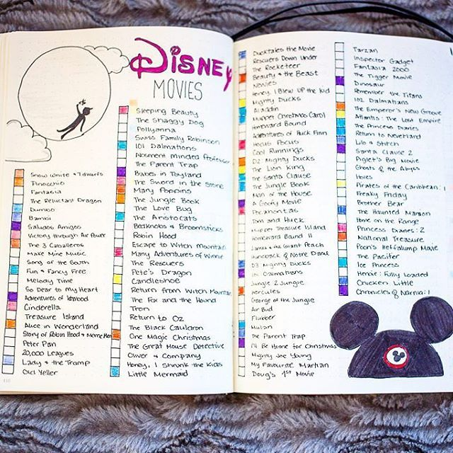 I'm loving my new Disney bullet journal pages!! So useful and colourful. PLUS I now have a place where I can quickly look and see what movies I own and which need for my collection  If you want more inspiration or a closer look at this template, check out the link in my bio! Have a Magical Sunday, friends! #bujo #bulletjournal #bulletjournalideas #bujoinspire #disney #disneymom #organization #movies #lists #bujoideas #bujojunkies #bulletjournallove #mickeyears #doodlesofinstagram #peterpa...