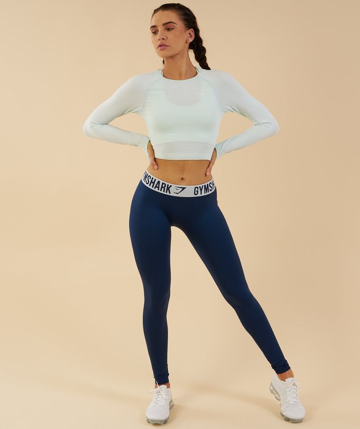 b11269fadfb4b8 Gymshark Vital Seamless Long Sleeve Crop Top - Sea Foam Green 4