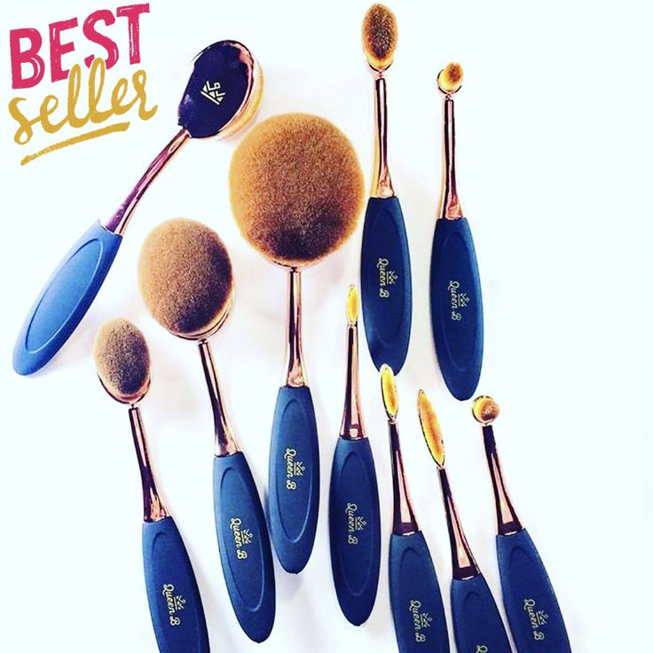 The most beautiful brushes with remarkable results . Queen B Beauty 10 piece Oval Brush Set. Soft and Vegan. Buy Now: https://www.amazon.com/gp/aw/d/B01LMJW1TU/ref
