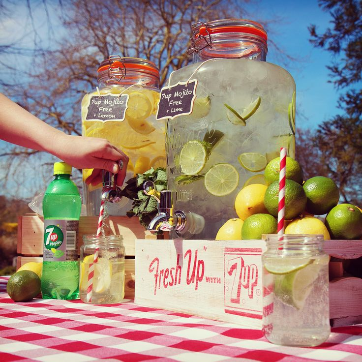 Mix up your party refreshments with a 7up Free Mojito inspired mocktail bar this summer.