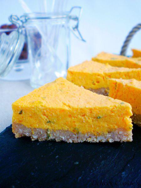 Cheesecake potimarron, chèvre frais & ciboulette...sans oeufs & light @valeriemousseau