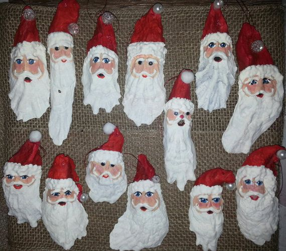Santa Clause Oyster Shell Christmas Tree By WoodenWaterLLC