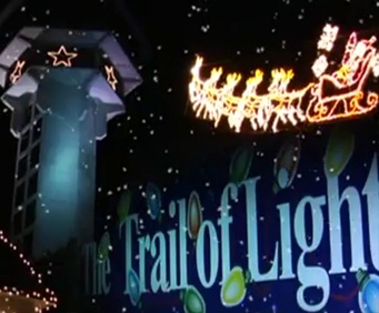 The Trail of Lights winds through two miles of gorgeous lights, hundreds of animated displays, Santa's Workshop, and a life-size Nativity scene. Then ride the glass elevators to the top of Inspiration Tower to see the twinkling lights of Branson from above.