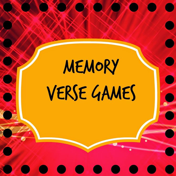Memory verse games for kids to help them memorize scripture.