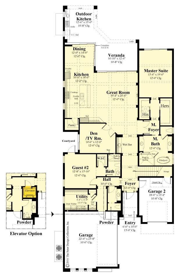 St Andrews Mediterranean House Plan Sater Design Collection House Plans Mediterranean House Plan Modern Floor Plans