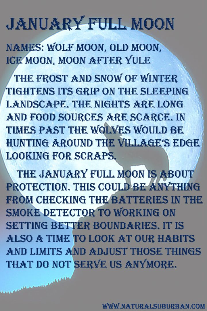 A look at January's full moon from a personal perspective.*