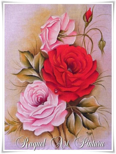 Pano de prato - Rosas