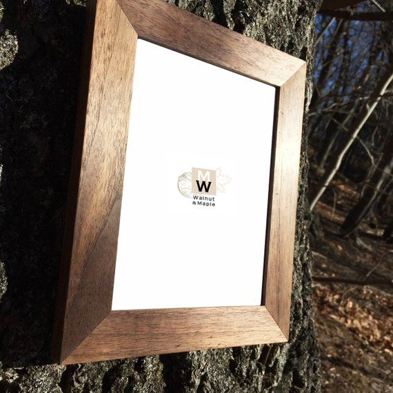 6x8 Thick Walnut Wood Picture Frame Photo Frame Home Decor