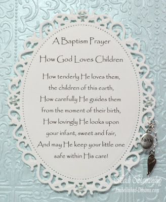 A Baptism Prayer Card