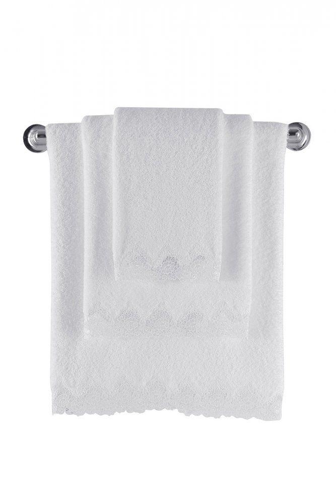 Biely froté uterák ANGELIC 50x100 cm, 85x150 cm a 32x50 cm.