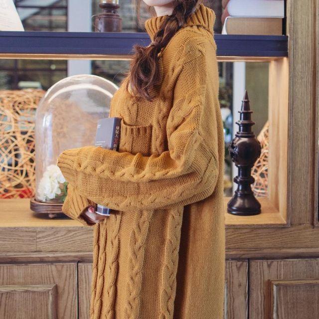 Aliexpress.com: Comprar Mujeres Suéteres Y Jerseys de Cuello Alto de Manga Larga Pullover Mujeres Grueso Sweter Mujer de sweater british fiable proveedores en WQJGR Store