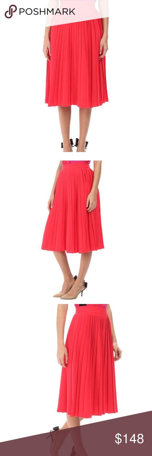 Kate Spade Accordion Aladdin Pink Pleated Skirt Beautiful hot pink pleated skirt by Kate Spade New York. Brand new with tags. kate spade Skirts Midi