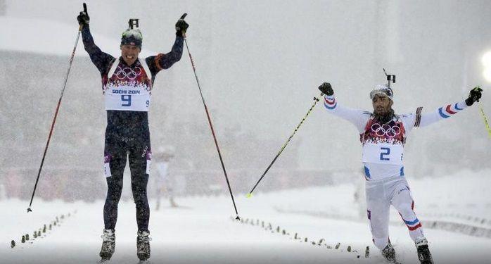 Emil Hegle Svendsen & Martin Fourcade. 2014 Olympics Biatlon