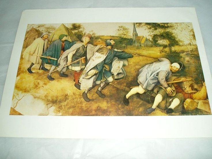 """Art Print  Poster """"THE BLIND LEADING THE BLIND"""" PIETER BRUEGEL THE ELDER #Realism"""