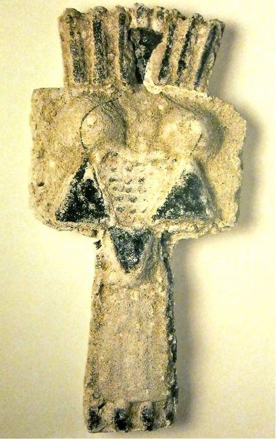 "costantino nivola:   ""Totem"" plaster, sand 1950"