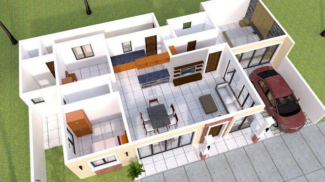 Pin By Sheraz Abbasi On House Plan 3d Home Design Bungalow House Design Duplex House Design