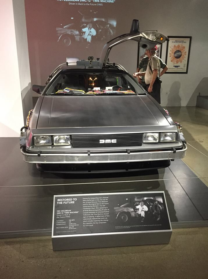 Back To The Future Delorean At The Petersen Automotive Museum