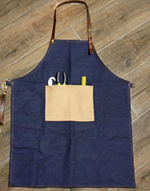 Unisex Denim Bib Apron with Adjustable Straps and Convenient Pockets. Suitable for Uniforms of Barber,Hairdresser,Barista,Bartender,Stylist,Waiter/Waitress,Florist,Painter,Gardener, Baker,Chef,or Work ware of Cafe, Bistro, Restaurant,Bakery,Tattoo shop,Craft workshop etc.