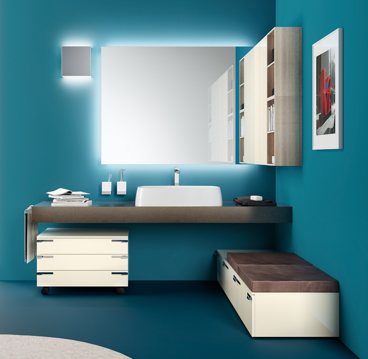 #kylpyhuone #scavolini #decorkylpyhuoneet #kylpyhuonekalusteet #sisustus  Aquo kylpyhuonekaluste Scavolini Aquo Collection. The #bathroom according to # Scavolini