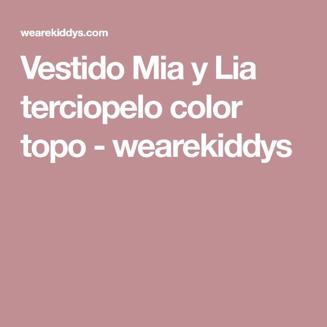 Vestido Mia y Lia terciopelo color topo - wearekiddys