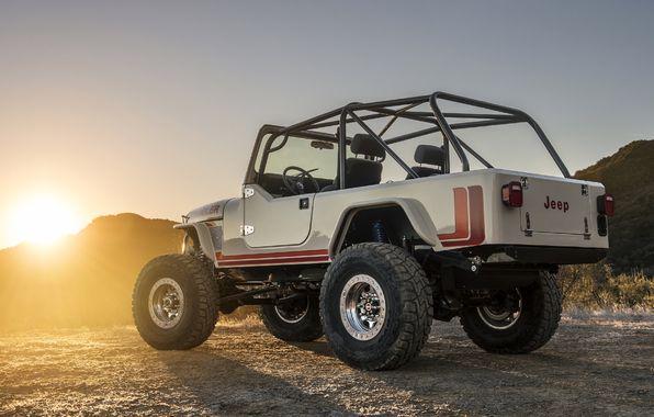 Обои картинки фото jeep, cj-8, scrambler, джип, внедорожник