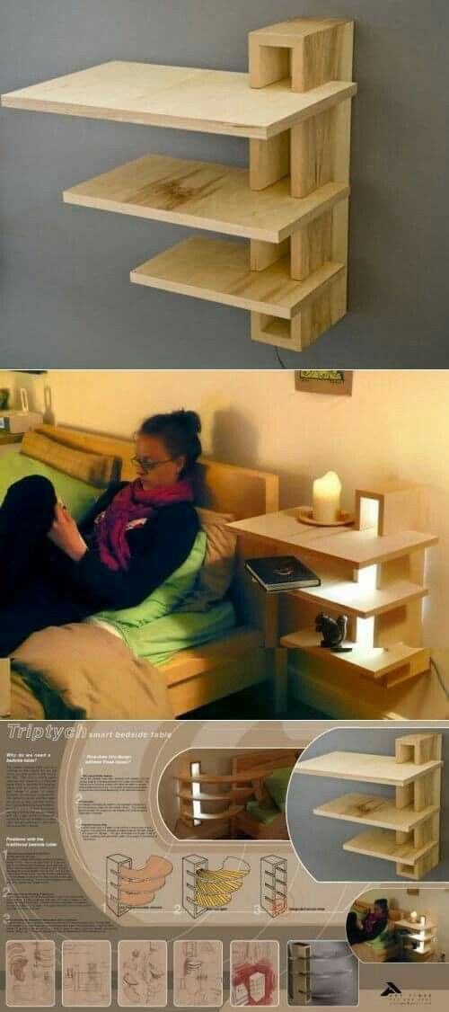 Bedside wall table