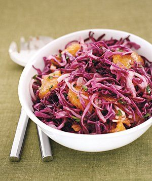 Autumn Cabbage Slaw | Get the recipe: http://www.realsimple.com/food-recipes/browse-all-recipes/autumn-cabbage-slaw-00000000007611