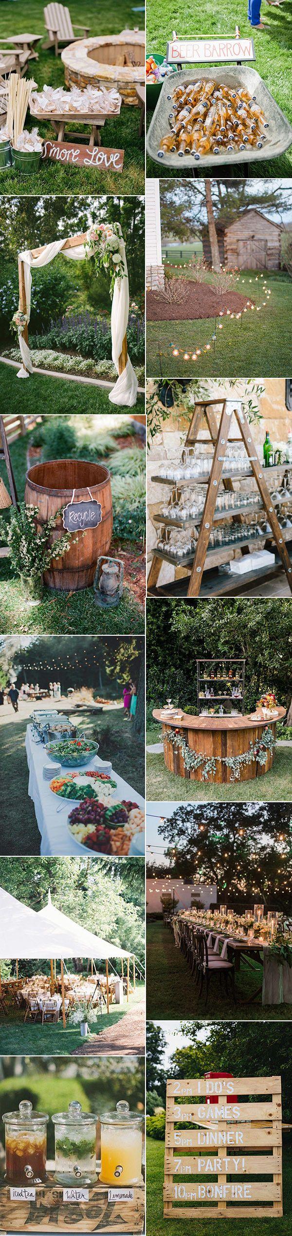 trending rustic backyard wedding ideas for 2017