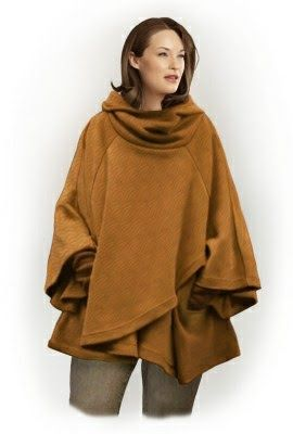 I choose sewing pattern for free: blanket poncho