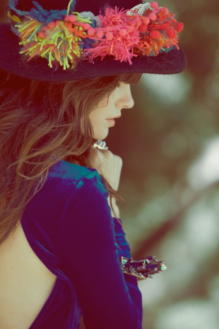 Foam Magazine: Hats, Blue Velvet, Harper Smith, Fashion, Inspiration, Style, Color, Kelley Ash, Photography