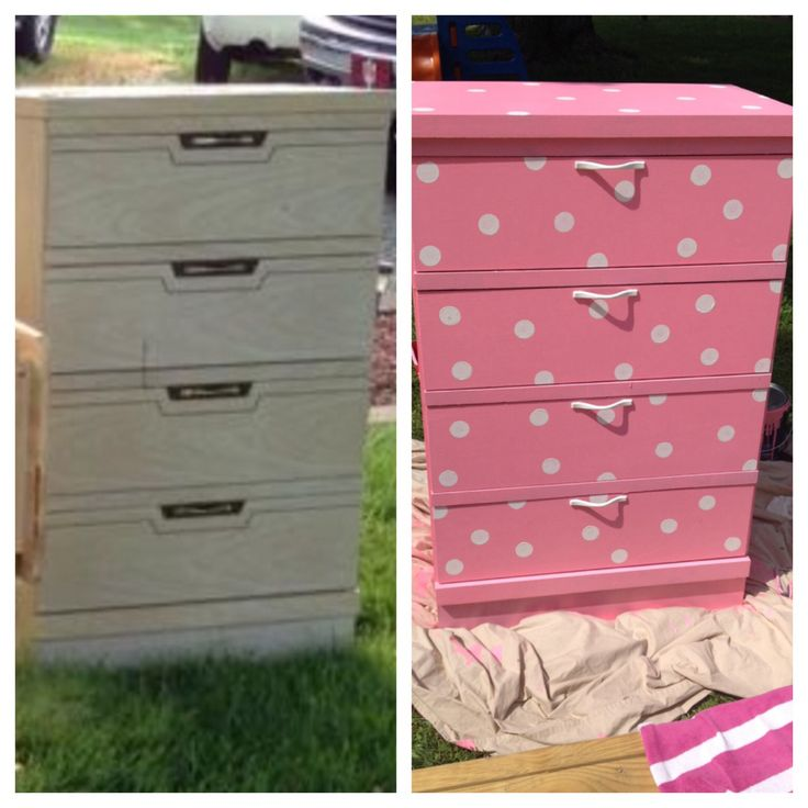 Before and After...Minnie Mouse dresser for my daughter