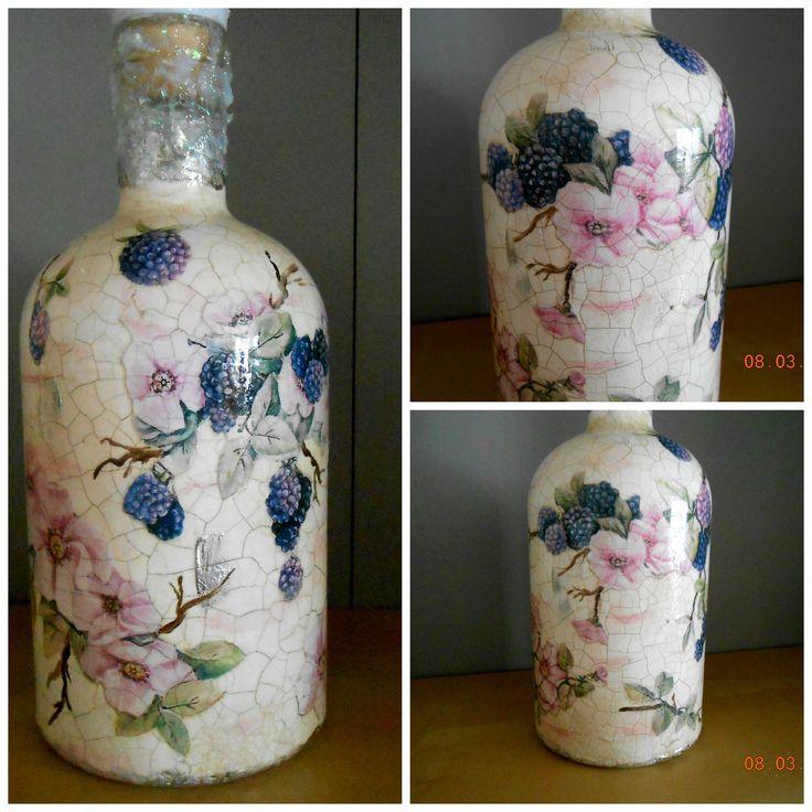 decoupage#bottle
