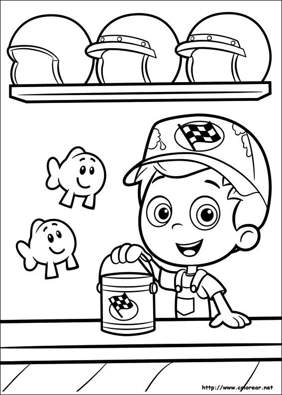 bubble guppies coloring pages 17