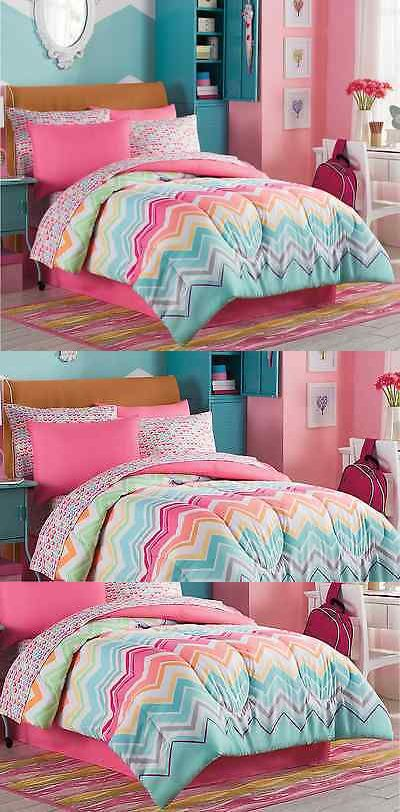 Comforters and Sets 66728: Marielle Twin Size Complete Girl Comforter Set Teen Bedding Collection Pink Teal -> BUY IT NOW ONLY: $93.85 on eBay!