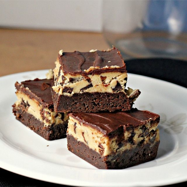 Chocolate chip cookie dough brownies...the best dessert mash-up of all time!