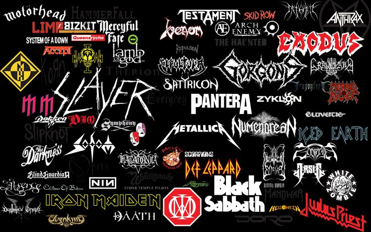 Collage of Heavy Metal Bands