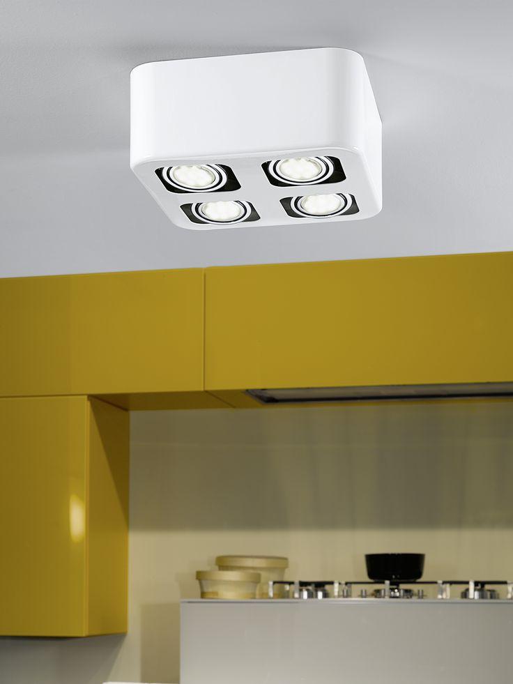 Eglo Lighting / Toreno / LED White 4 Lamp Surface Mounted Spot Light