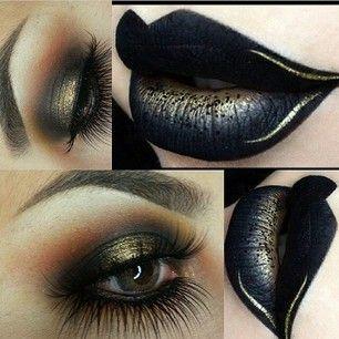 Maquillaje oscuro...                                                                                                                                                                                 Más