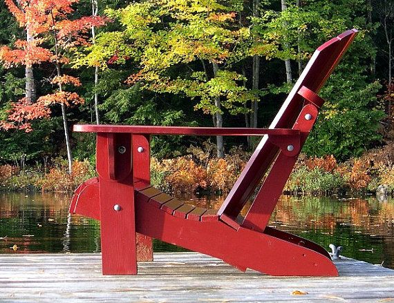 Folding Adirondack Chair Plans by TheBarleyHarvest on Etsy