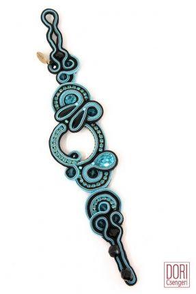 Tania statement bracelet #doricsengeri #turquoise #bracelet #jewelry #accessories #twotone #statement