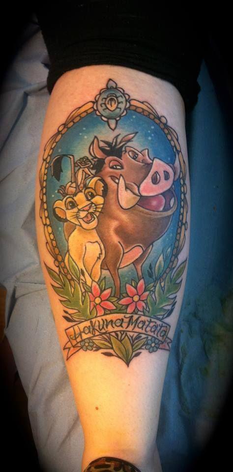 Tattoo Hakuna Matata Simba With Timon And Pumbaa