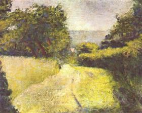 The Hollow Way - Georges Seurat